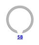 Кольцо стопорное SB концентрическое осевое плоское наружное для подшипника с канавкой
