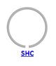 Кольцо стопорное SHC/SHO концентрическое осевое наружное (дюймовое)