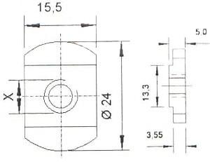 (24*15,5) Гайка шинная без пружины