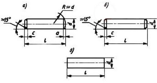 ГОСТ 3128-70 Штифт цилиндрический незакаленный