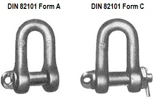 DIN 82101 Form A Скоба монтажная