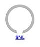 Кольцо стопорное SNL концентрическое осевое наружное (дюймовое)