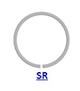 Кольцо стопорное SR концентрическое осевое плоское наружное