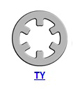 Кольцо стопорное TY самостопорящееся, без канавки, осевое наружное (дюймовое)