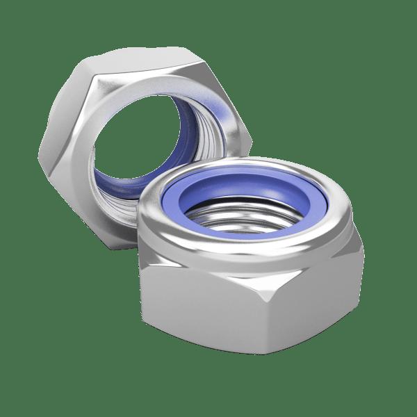 DIN 985 Гайка шестигранная самоконтрящаяся с нейлоновой вставкой