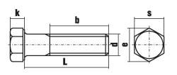 Болт DIN 931 дюймовая резьба схема